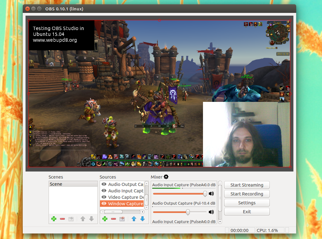 How To Stream To Twitch From Linux Using OBS Studio ~ Web Upd8
