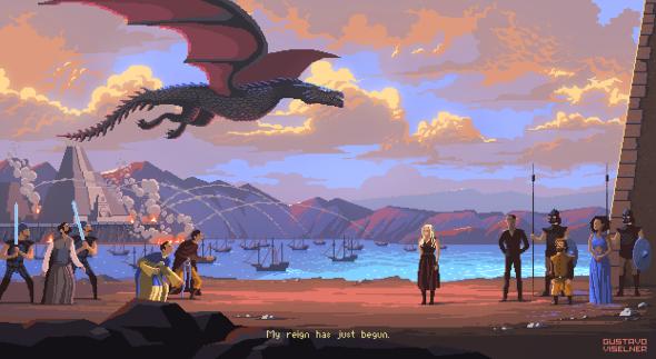 Gustavo Viselner ilustrações pixel art filmes tv referências Game of Thrones
