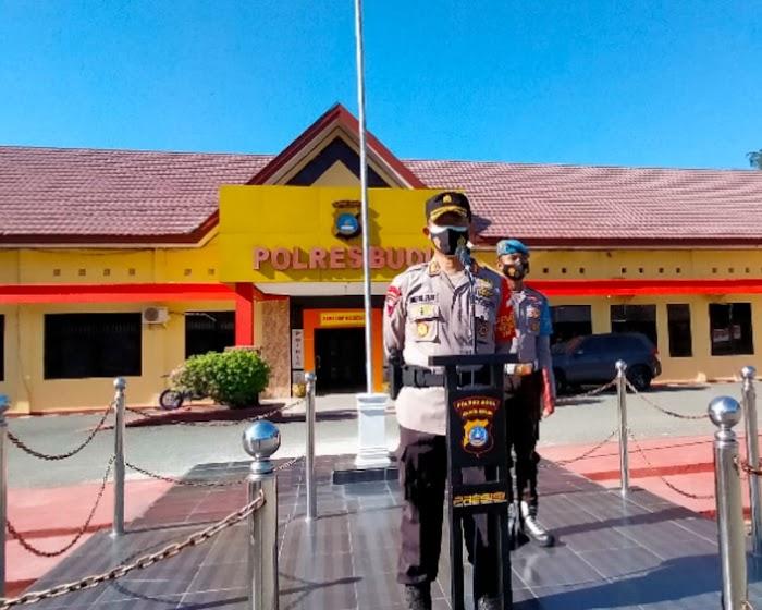 Kapolres Buol Tekankan Disiplin Pedomani  Prokes kepada Personel dan Masyarakat