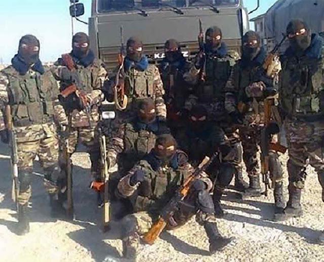 Milicianos da 'Wagner' na Síria.