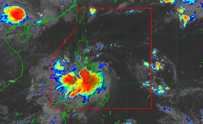 Satellite image of Tropical Storm 'Dante' as of 6:50 am, June 2, 2021