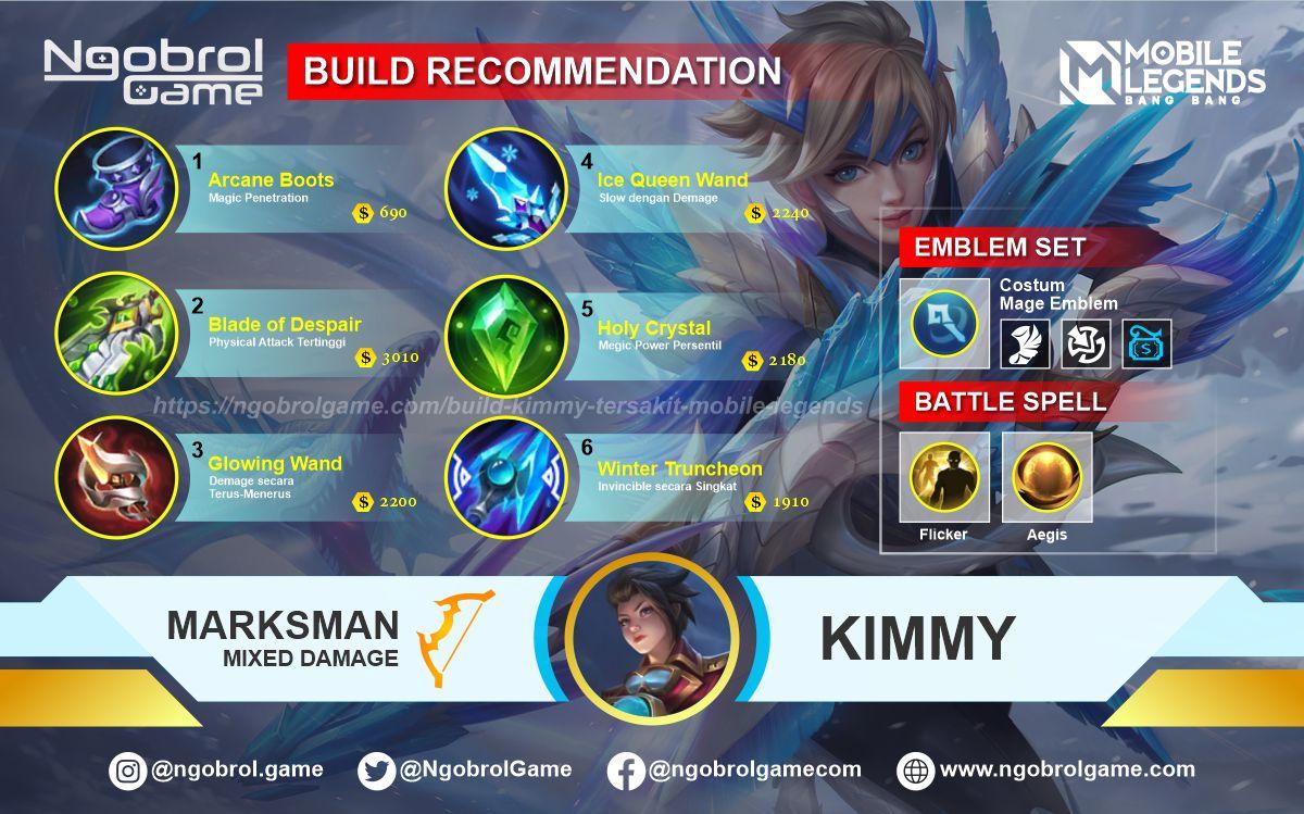Build Kimmy Top Global Tersakit Mobile Legends
