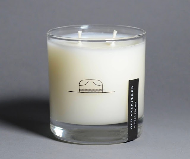 Ranger station old fashioned candle