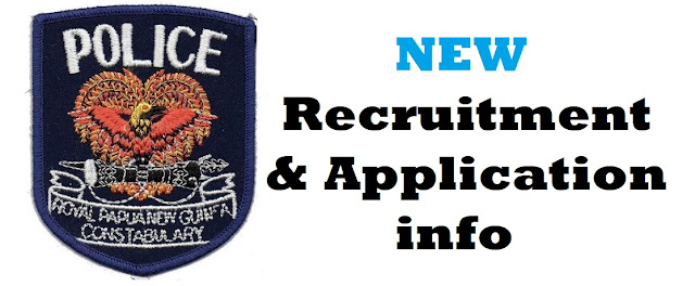 PNG POLICE RPNGC APPLICATION RECRUITMENT