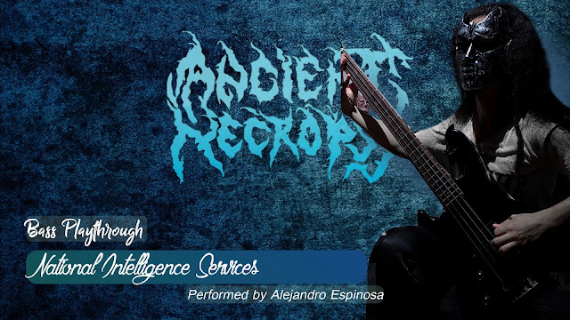 Bajista de metal usando mascara, bass player wearing mask, Best colombian Metal Bands