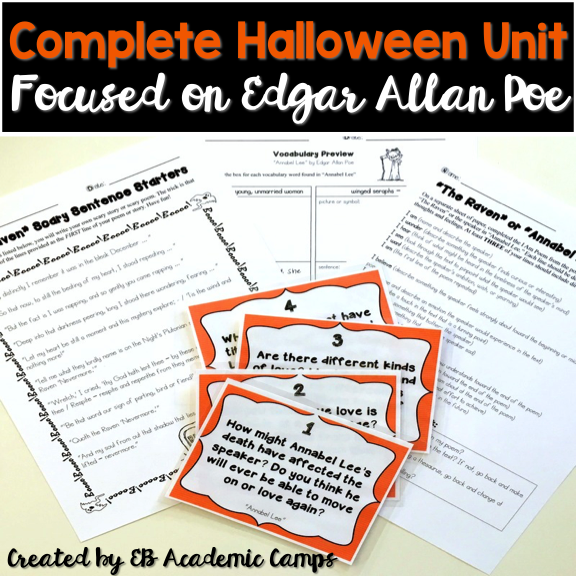 This is the best Edgar Allan Poe poem to teach to your middle school students! They will absolutely love it!
