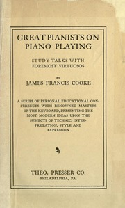 Great Pianists on Piano Playing (piano learning book)