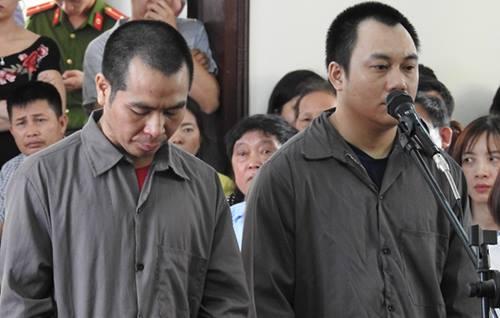 Bị cáo Sơn và Hoàng tại tòa