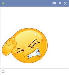 emoticon Facebook pusing