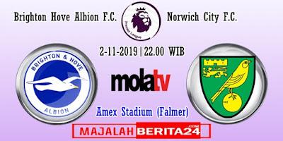 Prediksi Brighton vs Norwich City — 2 November 2019