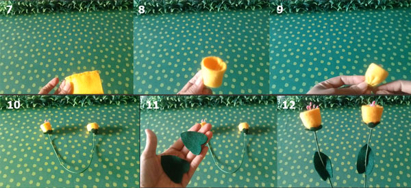 Tutorial Bunga Morning Glory dari Kain Flanel 2