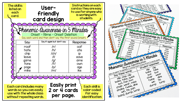 using phonemic awareness word lists helps to teach phonemic awareness skills