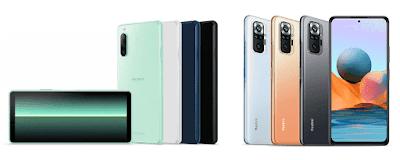 Xperia 10 IIとRedmi Note 10 Pro
