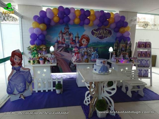 Decoração Princesa Sofia provençal - Festa de aniversário