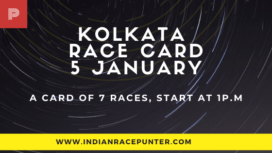 Kolkata Race Card 5 January