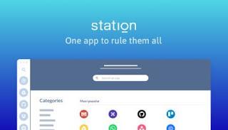 برنامج, متطور, لتصفح, إدارة, تطبيقات, الانترنت, من, مكان, واحد, Station