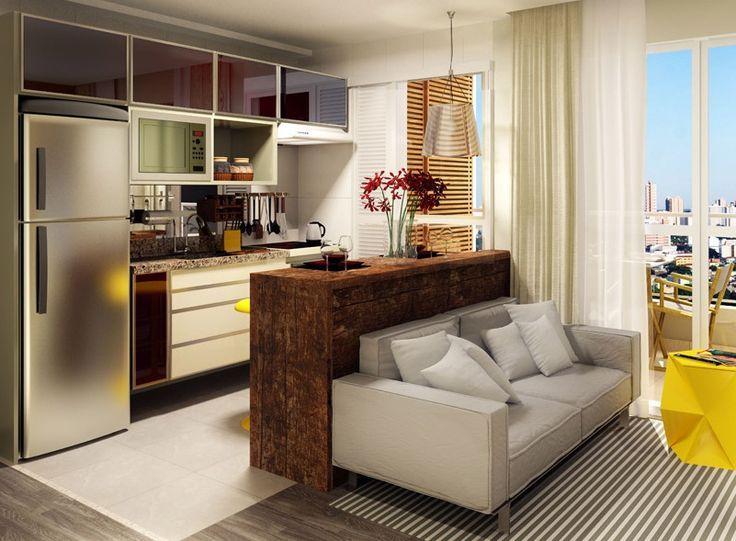 Cozinhas americanas com sala interligada fotos e modelos for Cocina americana sala de estar idea