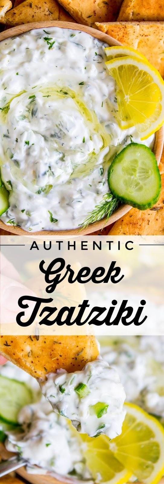 Tzatziki Sauce Recipe with Toasted Za'atar Pita