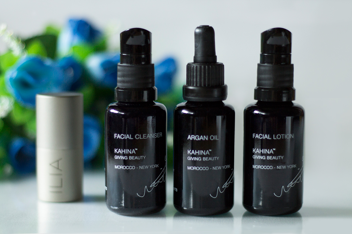 Amazingy, Kahina, ILIA, facial cleanser, facial lotion, argan oil, highlighter