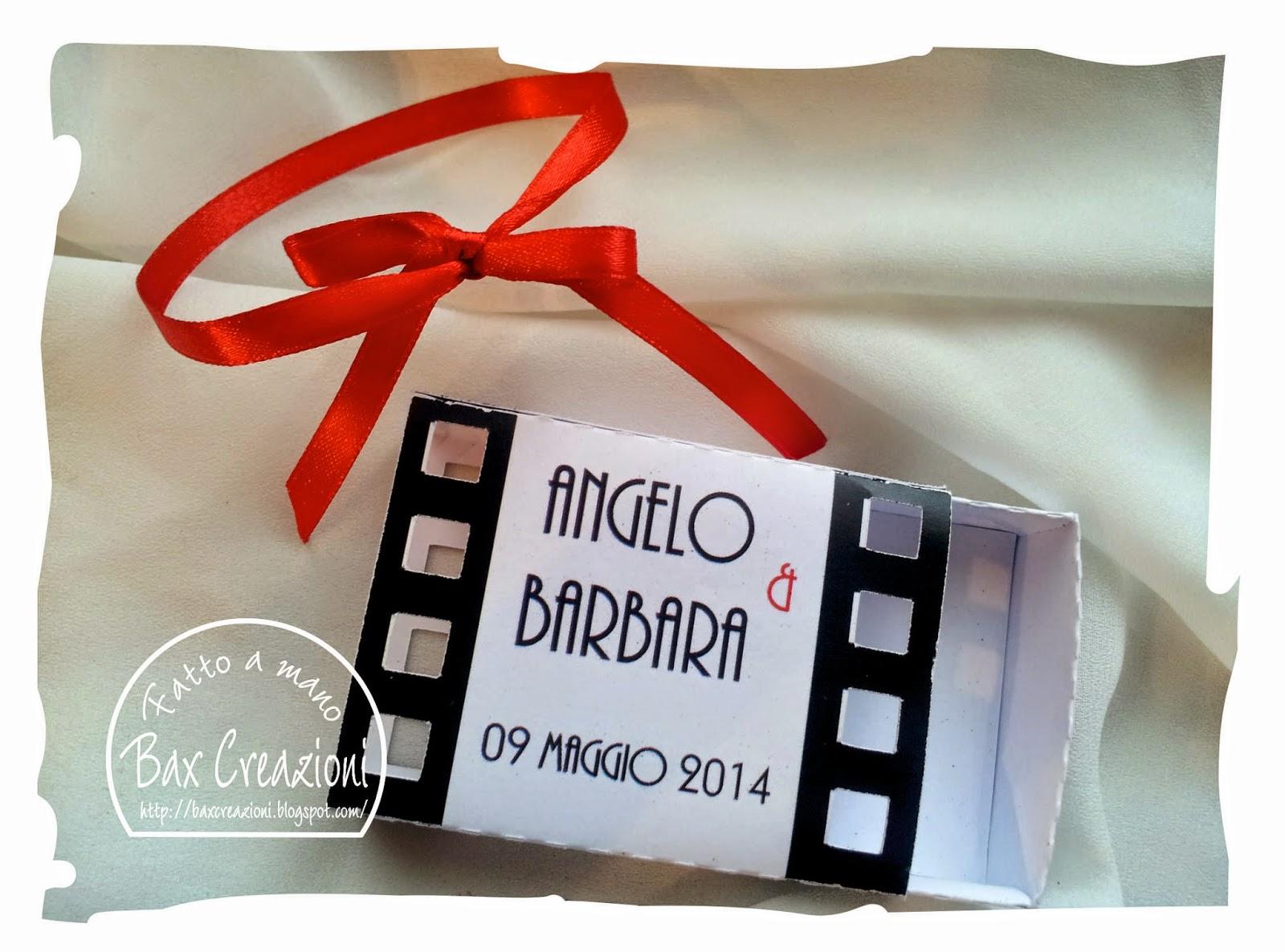 Ben noto Bax Creazioni: Scatoline per confetti tema Cinema GO16
