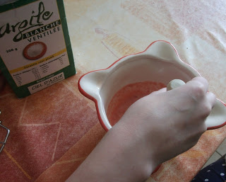 masque à la fraise