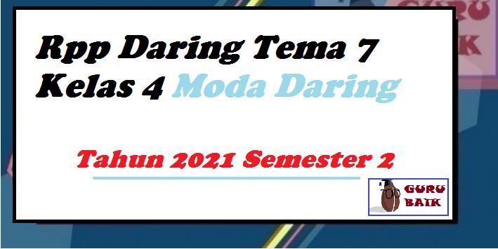gambar rpp daring kelas 4 tema 7 semester 2