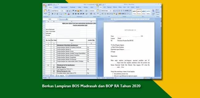 Berkas Lampiran BOS Madrasah dan BOP RA Tahun 2020