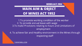 Discuss the main object, aim ,scope of the Mines Act 1952 Notes