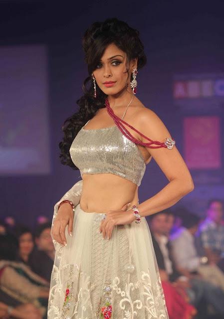 Hrishita Bhatt navel show