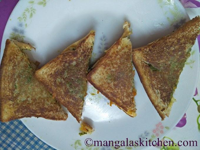 Bombay Vegetable Cheese Sandwich | Mumbai Masala Toast