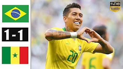 ملخص مباراة البرازيل والسنغال اليوم 1-1 - مباراة نااارية