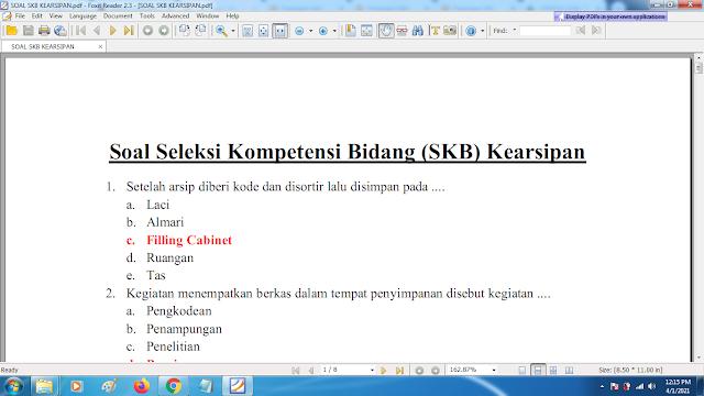 Download contoh soal pppk skb kearsipan dan kunci jawaban
