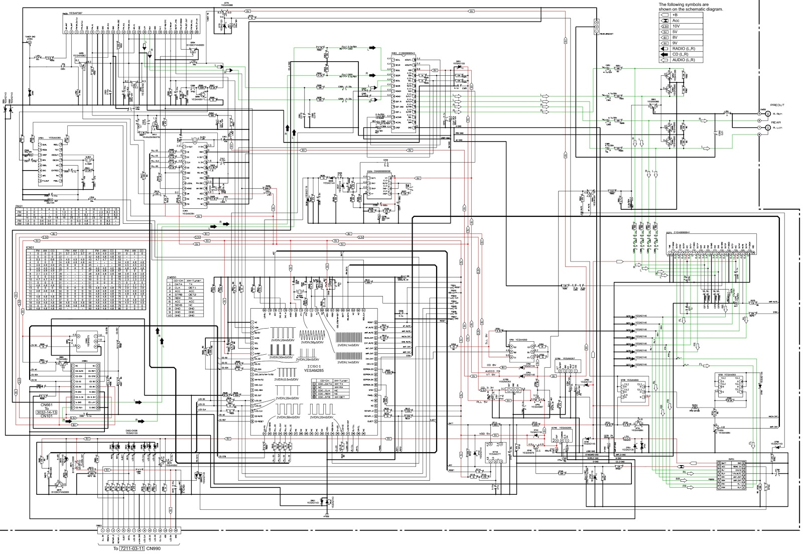 panasonic cq-c3302n circuit diagram  u2013 exploded view  receiver