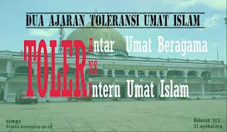 Islam Mengajarkan dua Toleransi Keluar dan Kedalam Umat