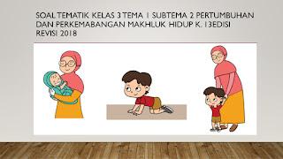 Soal Kelas 3 Tema 1 Subtema 2 Pertumbuhan dan Perkembangan Manusia K.13 Edisi Revisi 2018