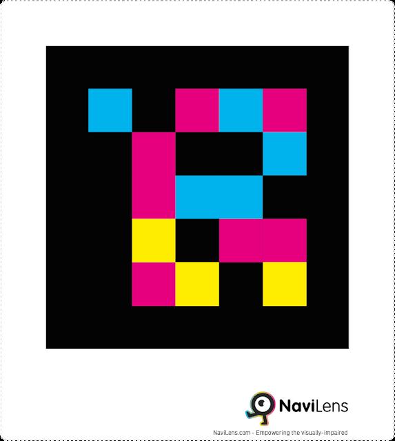Código Navilens, empleado para hacer más accesibles espacios para personas con diversidad funcional visual.