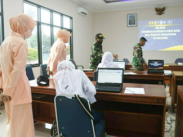 Casis Panda Lanud RSA Ikuti Seleksi Tahap I Akademik Untuk PPDB SMA Pradita Dirgantara TA 2021/2022