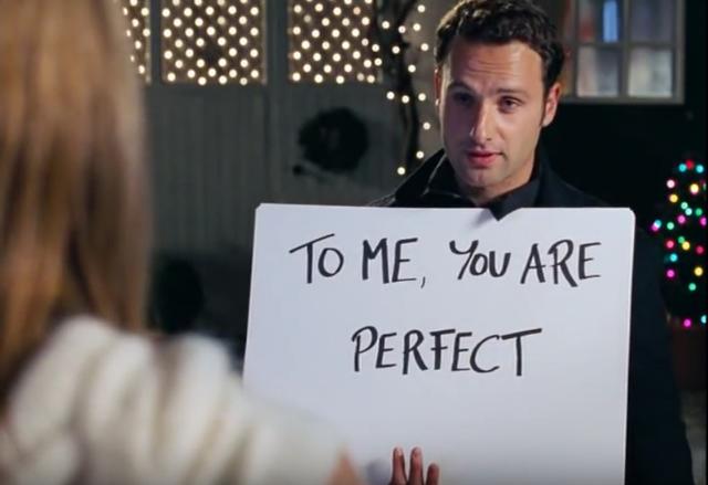 Love Actually Andrew Lincoln To Me You Are Perfect Quote