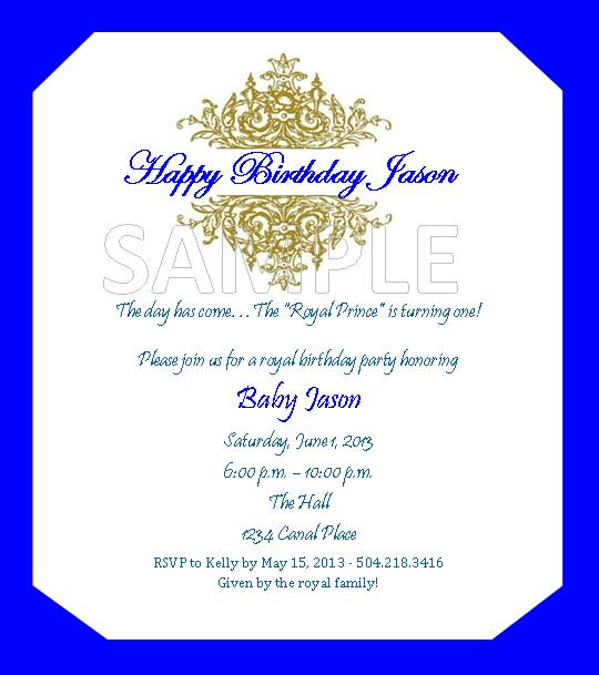 Solutions...Event Design by Kelly: Royal Prince Theme ...