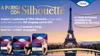 Logo Tena ''A Parigi con Solhouette'': vinci soggiorni, shopping da 2500€ e 260 shopping card da 50€