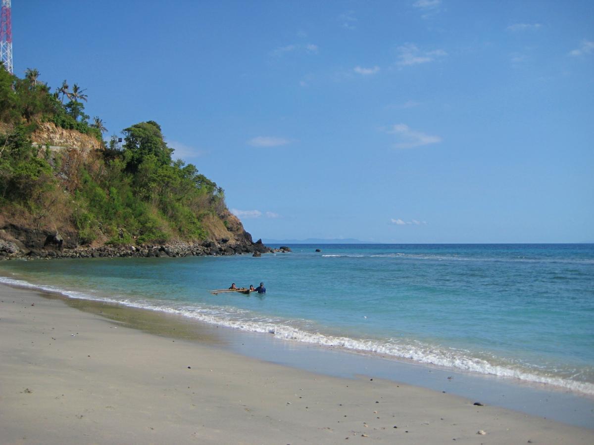 한적한 해변의 모습
