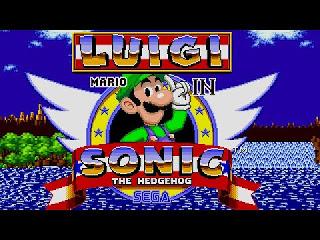 Jogo hack Luigi in Sonic 1 online grátis para Genesis