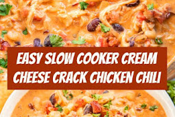 Slow Cooker Cream Cheese Crack Chicken Chili #crockpot #slowcooker #chili #chickenchili #chicken