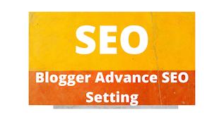 Blogger मे  advance seo setting कैसे करते है , seo setting for blogger, seo setting in blogger hindi me