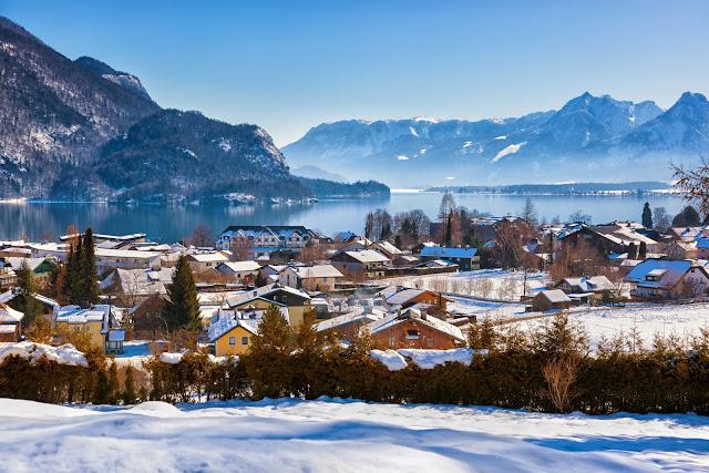 Горы горнолыжный курорт Санкт-Гильген Австрии