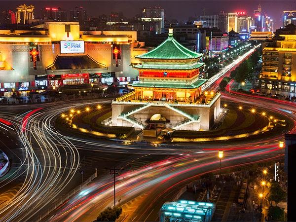 หอระฆังซีอาน (Bell Tower of Xi'an: 西安钟楼) @ www.topchinatravel.com
