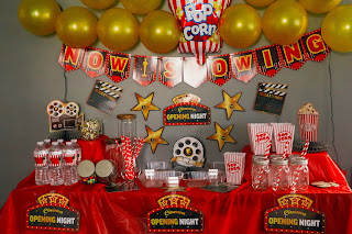 movie night party decor