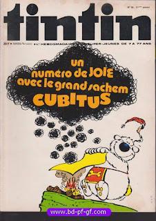 Tintin numéro 36, 1976, Cubitus