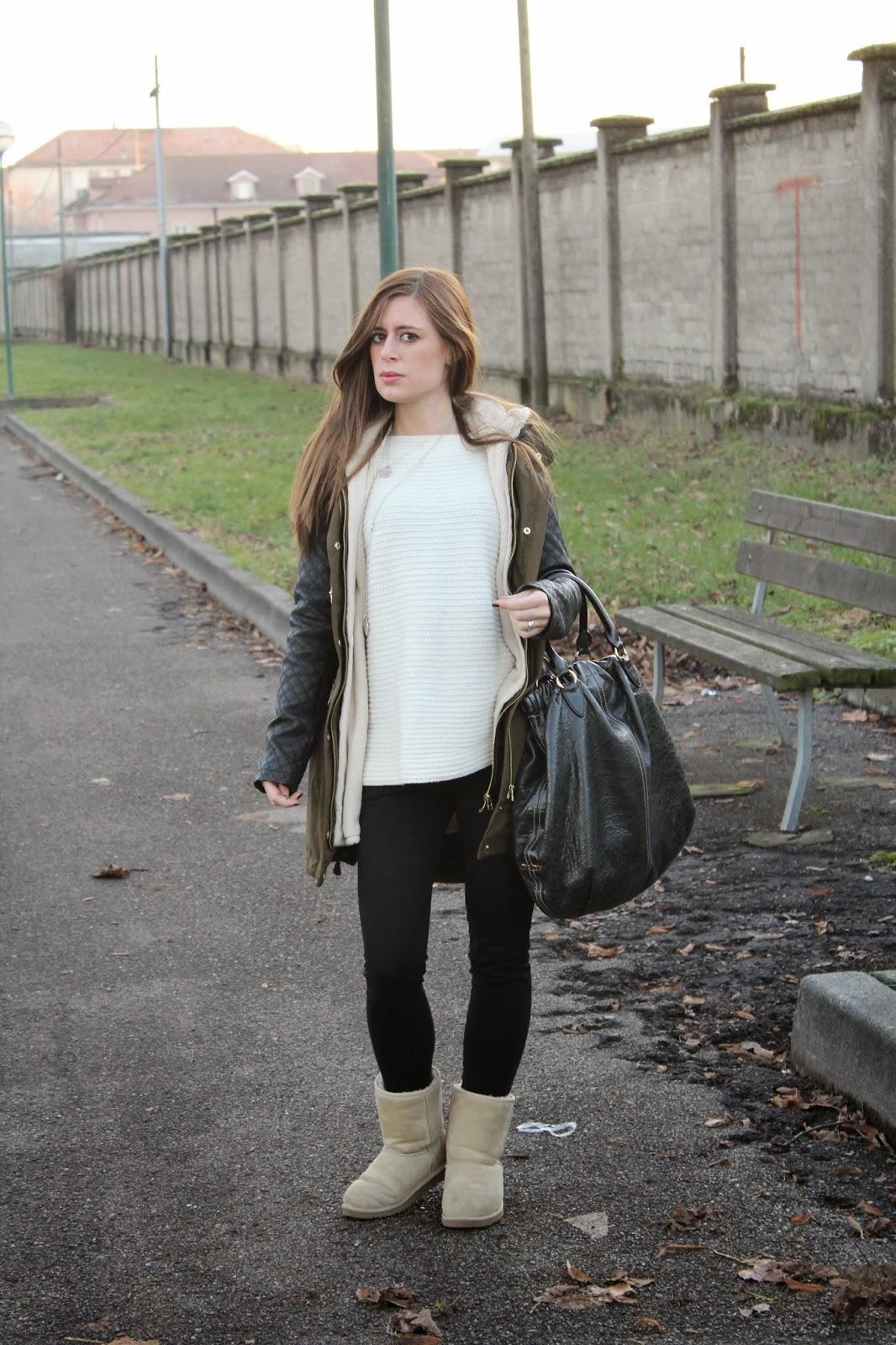 Un outfit semplice e confortevole per un pomeriggio d u0027inverno.  Buongiorno ragazze!! ef57b84ff30