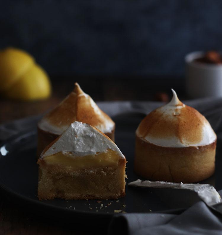 Tartelettes citron noisette meringuées